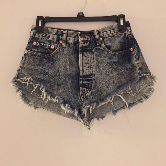 Forever 21 acid wash jean shorts Really short acid wash shorts from forever 21. Worn twice. Forever 21 Shorts Jean Shorts
