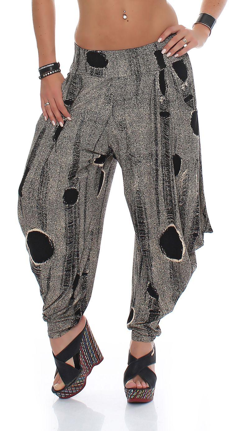 Trendige Damen Viskose Hose, Haremshose, Aladinhose im modernen Design