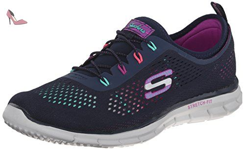 Performance Go Run 400 - Action, Shoes Femme - Noir (BBK), 41 EU (8 UK)Skechers