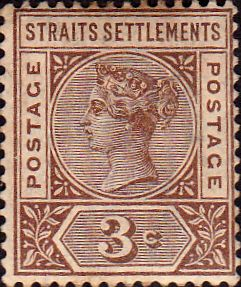 Straits Settlements 1892 Queen Victoria SG 96 Fine Fine Used Scott 82 Other Malay Straits Stamps HERE