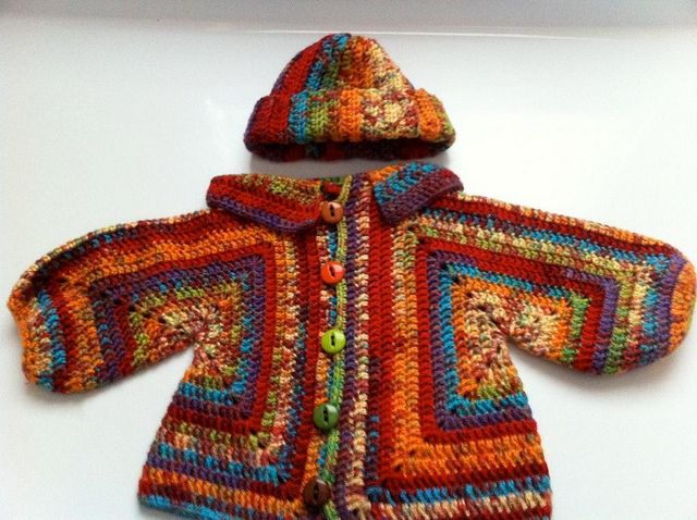 Knit Pattern Hexagon Sweater : Sues No holes Hexagon Baby Sweater CROCHEt BaBY CLOTHes ...