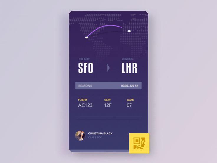 Boarding Pass animation by Aurélien Salomon