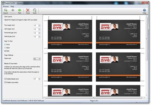 CardWorks: Návrhy vizitek i pro úplné začátečníky
