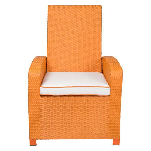 Storage Chair Patio Discount Furniture Comfortable Sturdy Comfy Cushion Orange Patioheaven