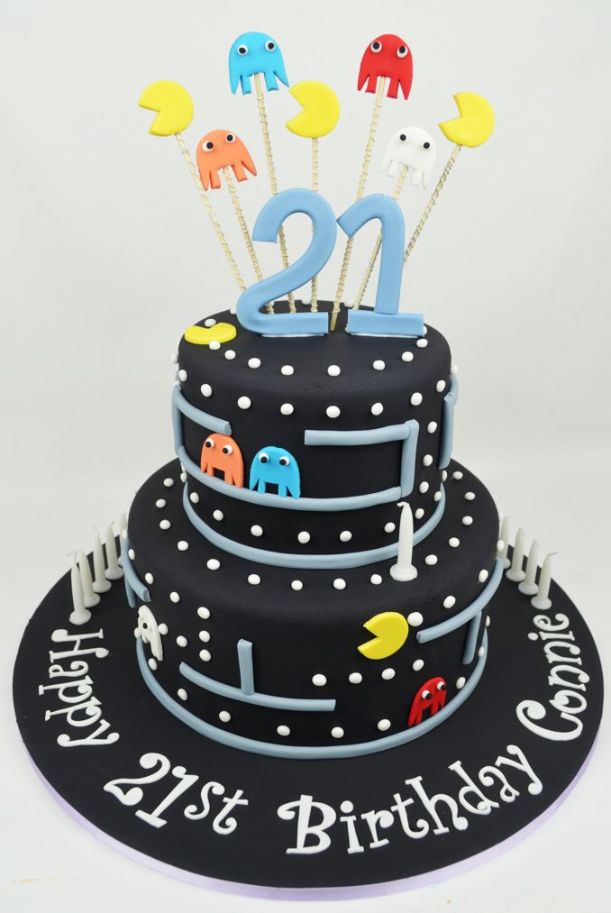 Pacman cake everything cakes pinterest cake pac for Adult birthday cake decoration