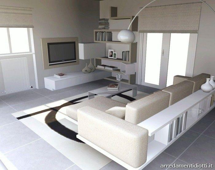 Soggiorno Creative side divano Zen libreria - DIOTTI A&F Arredamenti