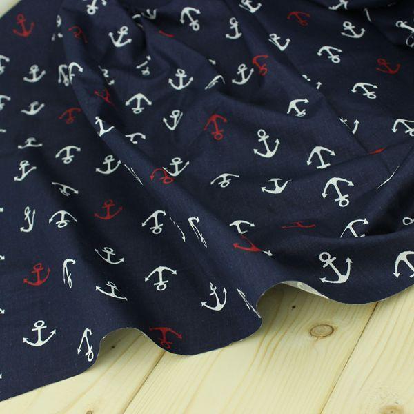 100 * 160 см в морском стиле синий якорь 100% хлопок саржевые ткань ремесел DIY для шитья одеяло дети палатка tissuschic ткани