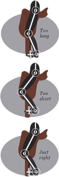 Horse Rider's Mechanic article Stirrup length think I've got mine just right