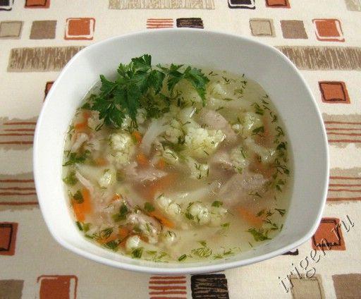 Суп с цветной капустой сыр