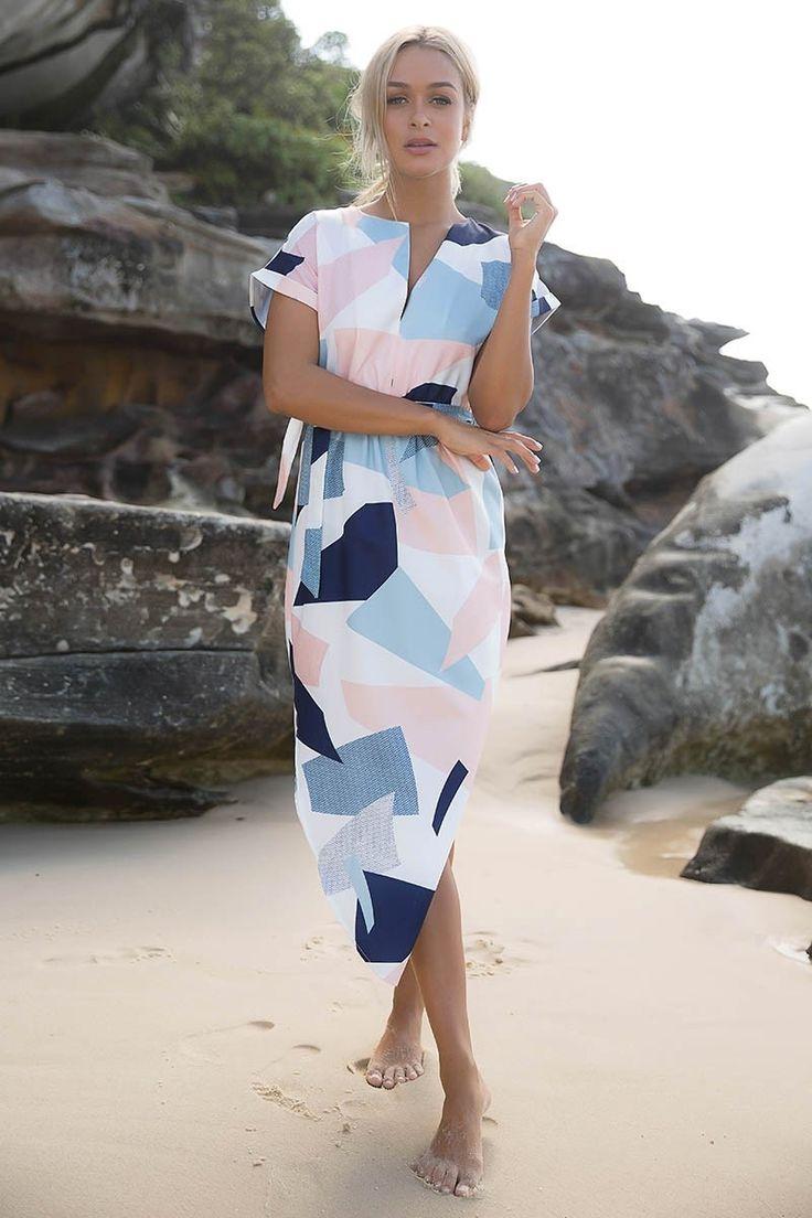 Sera - The Best-Selling Geometric Pencil Dress.