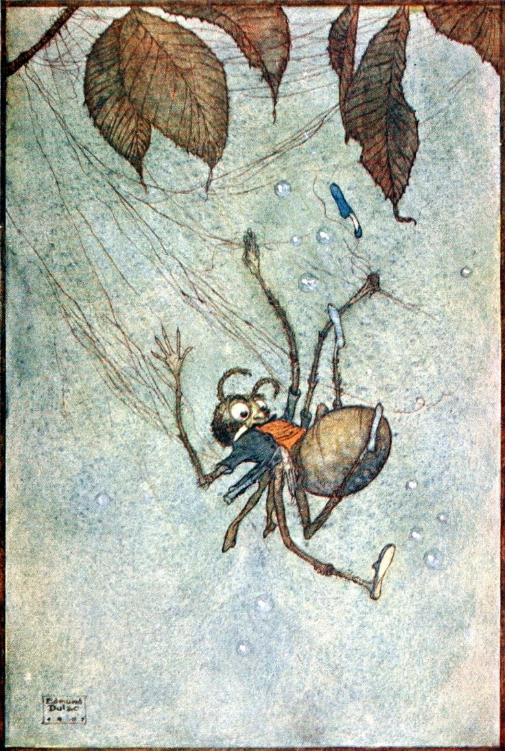 The Big Spider's Diamonds from 'Fairies I have met' by Mrs. Rodolph Stawell, 1910 illustration by Edmund Dulac.