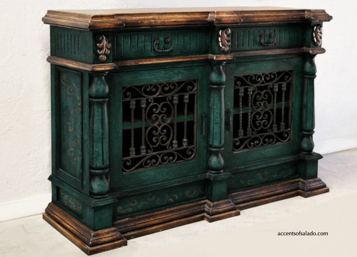 Turquoise Painted Furniture At Accents Of Salado Hacienda Furniture Store Southwest Decor