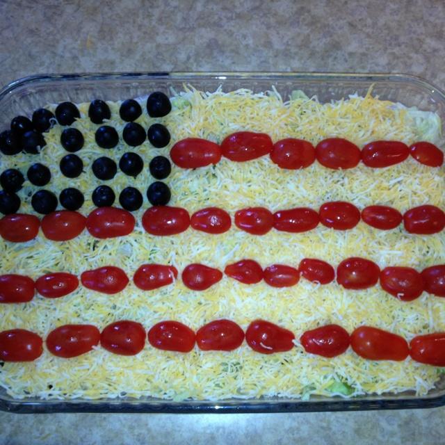 Flag taco salad | july | Pinterest | Taco salads, Salad