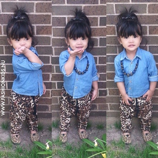 #kids #look #toddler #infant #pretty #baby #girl #fashion #style #inspiration #clothes #glam #chic #swag #shoes #leopard #denim
