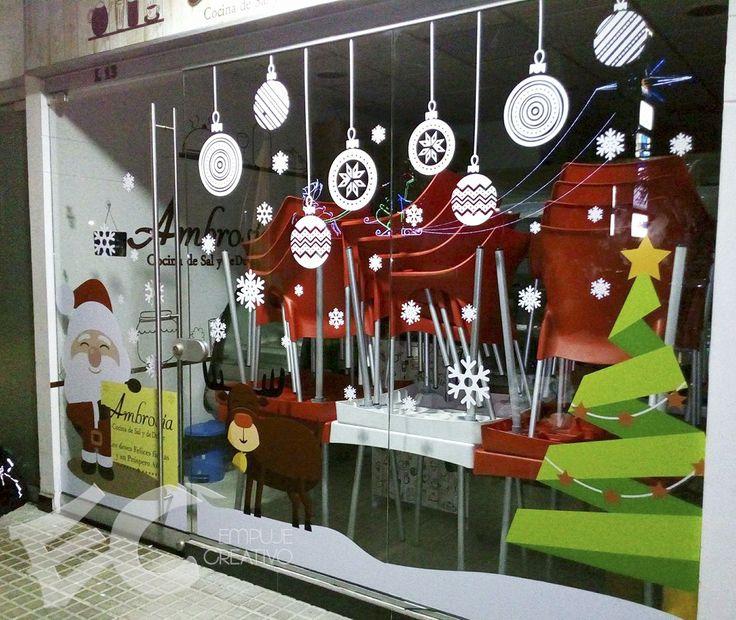 Decoración navideña en vinilo impreso y de corte