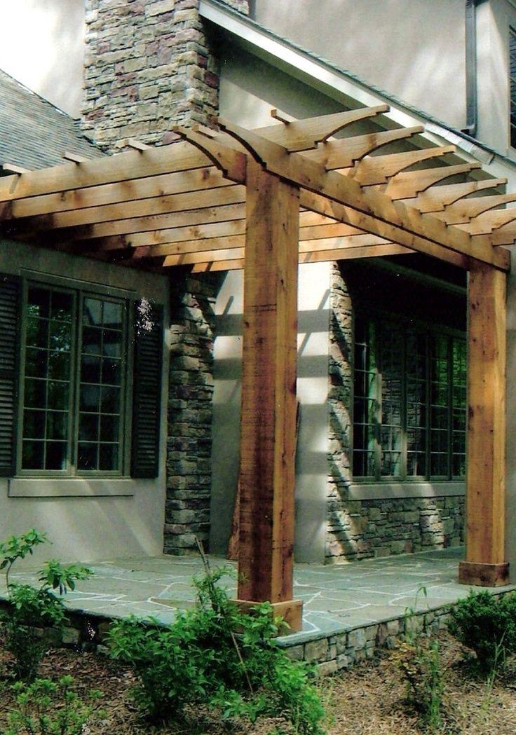 23 best Pergola with Fireplace images on Pinterest ... on Side Yard Pergola Ideas id=98444