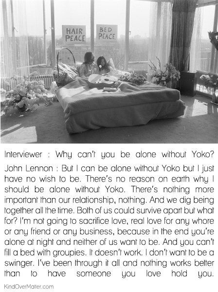 john lennon and ono yoko relationship advice