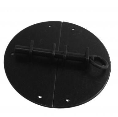 Targette ronde ancien en laiton noir finition antique, FERRURE   Bouton et…