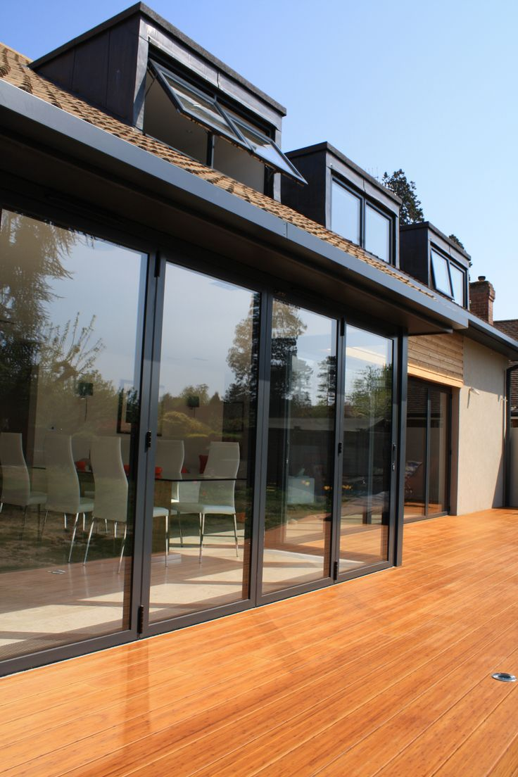 Beautiful bungalow with over 10m of folding doors. #foldingdoors #sunflex #anthracitegrey & 59 best Extension images on Pinterest | Extension ideas Glass ... pezcame.com