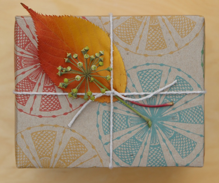 Carnival wrapping paper by Emma Jennings 'Circle Fans' printed on 100% recycled Australian paper. www.emmajennings.com.au