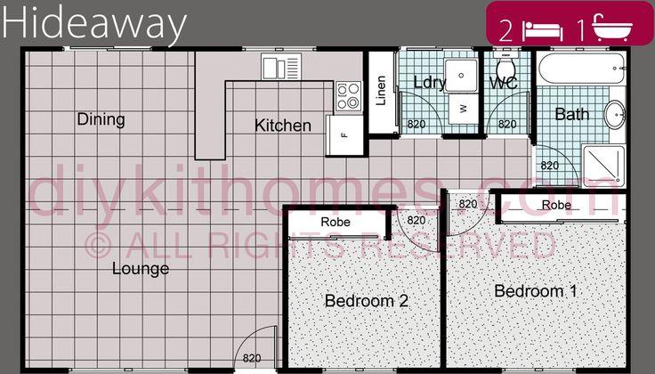 hideaway-floorplan DIY Kit homes