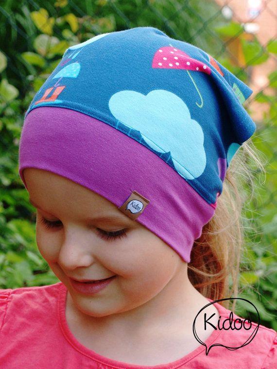 Girl headscarf toddler bandana Happy Rain  Organic cotton.