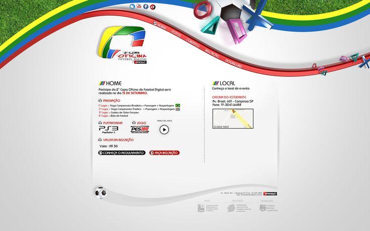 Website da copa oficina(video game)