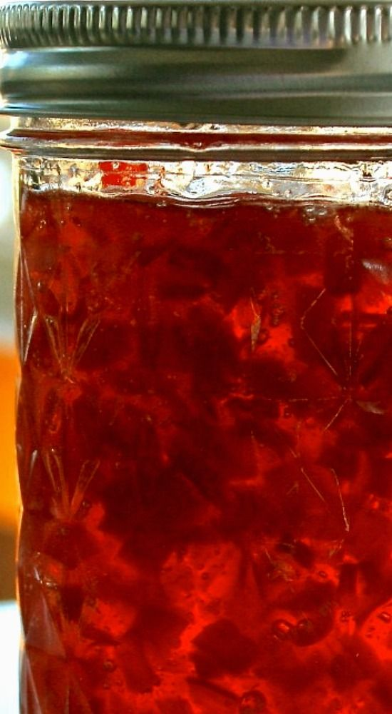Cranberry Jalapeno & Sweet Red Pepper Jelly.