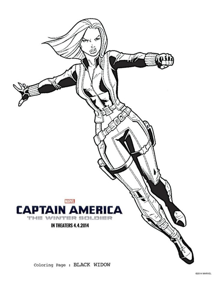 2 CAPTAIN AMERICA THE WINTER SOLDIER Coloring Sheets To Keep Everyone Occupied Until April