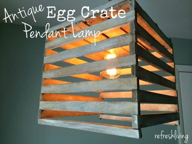 Antique Egg Crate Pendant Light - Refresh Living