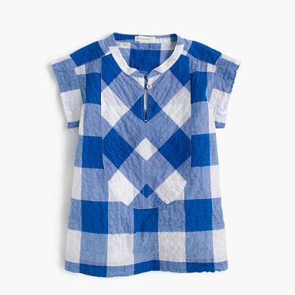 We. Love. Gingham. So much that we put it everywhere this season, from dresses to skirts to swimsuits to this warm-weather-ready top. <ul><li>Cotton.</li><li>Machine wash.</li><li>Import.</li></ul>