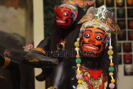 Dancer puppet mask — Stock Photo © msjeje #144737639