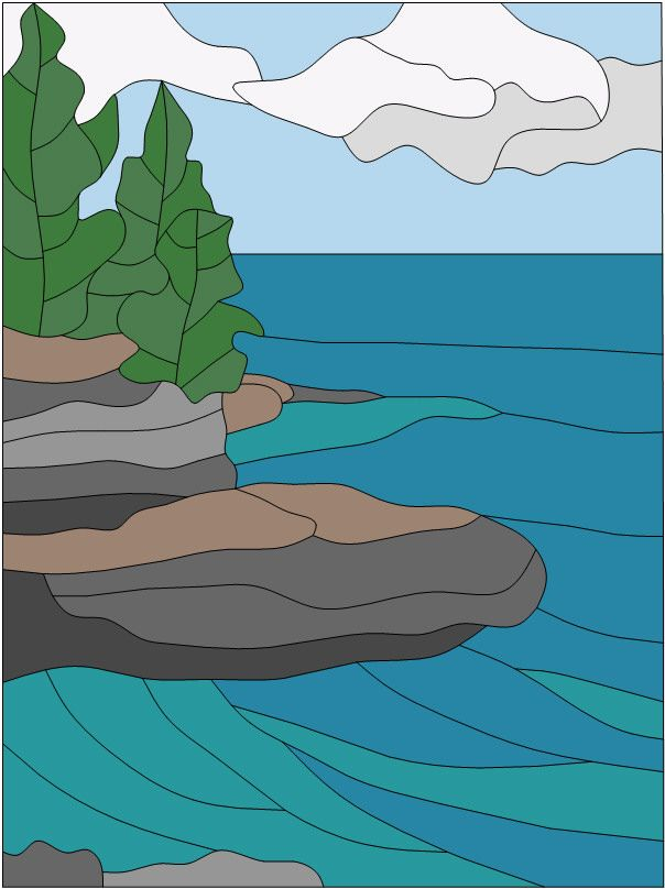 Rocky Point color version of free pattern from Sunnybrook Studio
