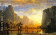 Valley of the Yosemite 1864  by Albert Bierstadt