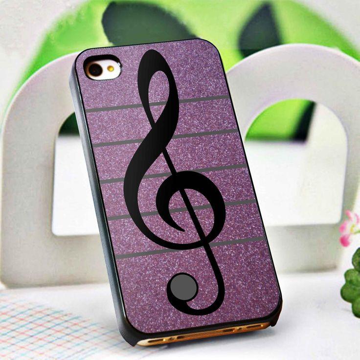 Purple Glitter Musical Note case iPhone Case BDN