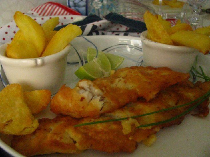 Fotorecept: Anglická vyprážaná ryba – fish and chips v pivnom cestíčku