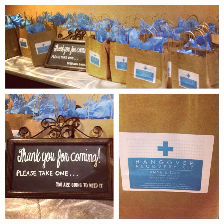 Hangover kit wedding favors   Favors & Goodies   Pinterest ...