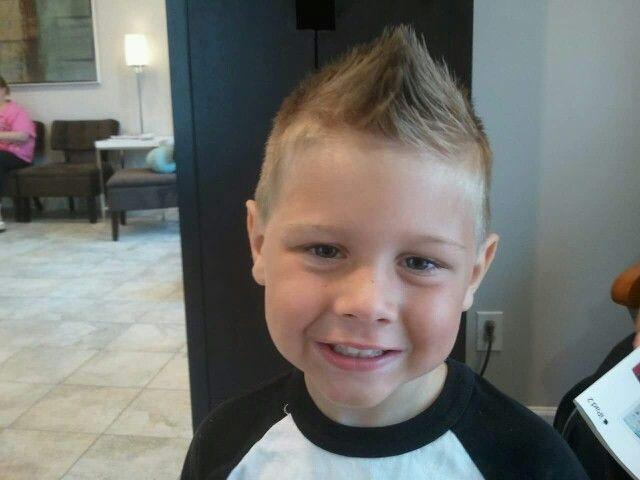 Little boy faux hawk