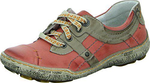 Kacper 2-3952 Schnürhalbschuh Damen Leichte Farben Leder Wasserabweisend Farbe: Rot/ Beige - http://on-line-kaufen.de/kacper/kacper-2-3952-schnuerhalbschuh-damen-leichte-rot