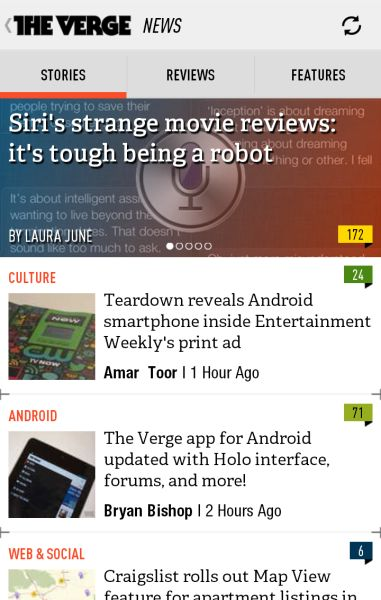 The Verge (from Android Niceties)