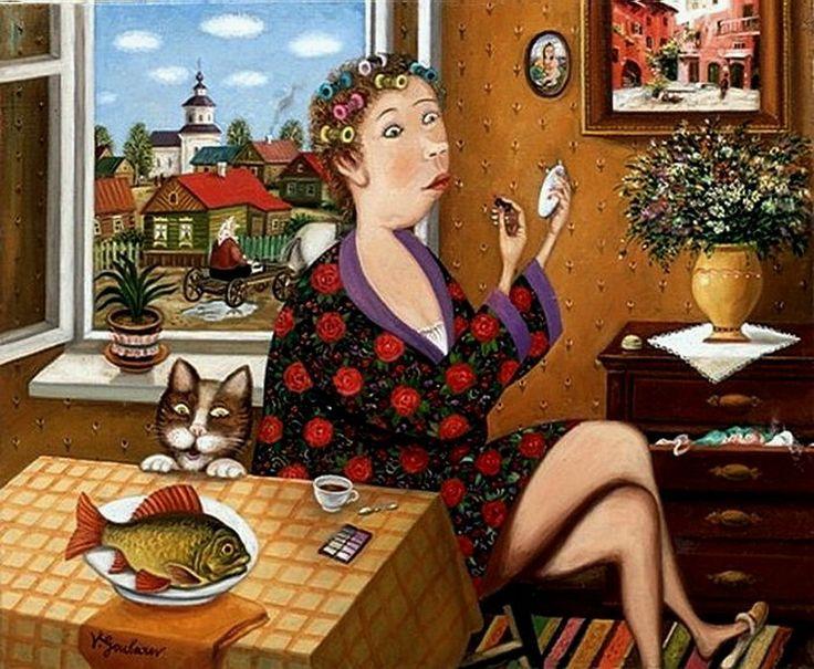 Смешные картинки с тетями, блины икрой