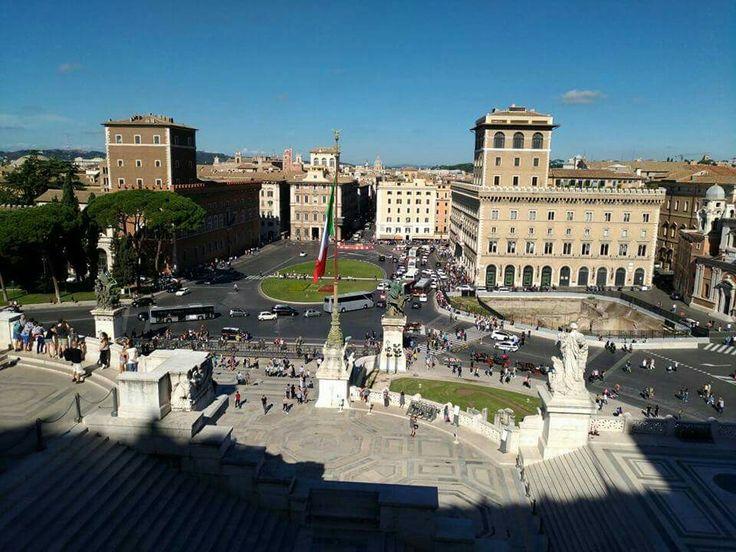 Piazza Venezia, Altare della Patria e Via del Corso, Roma, Italia