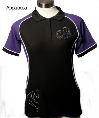 Appaloosa Polo Shirt complete with Bling - $40