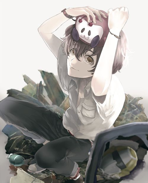 I loved this anime. I cried at the end. It was an amazing anime! <3 Terror In Resonance or Zankyo no Teroru. <-- So beautiful, yet so painful.