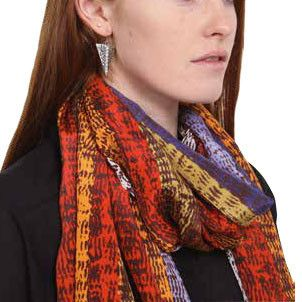 Australian Made Gifts & Souvenirs with the Limited Edition Petra Marshall Silk Scarf -by Scorched Earth. For the best Australian online shopping for a Scarves - 1