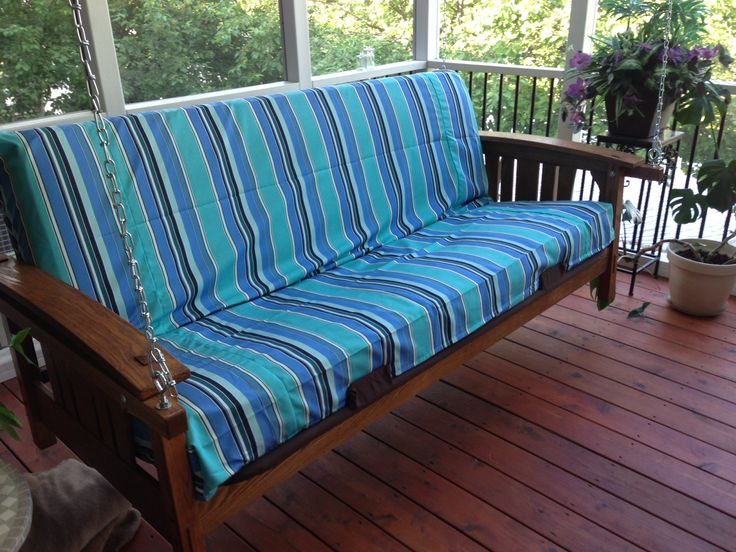 Perfect My Futon/porch Swing With Custom Sunbrella Fabric Removable Cover From  Futons.net.