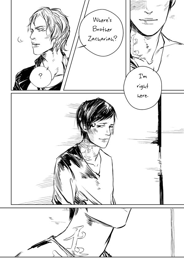 "Goodbye Brother Zachariah page 2 ...   Drawn by Cassandra Jean ...   jace herondale, james 'jem' carstairs, the mortal instruments, brother zachariah ...   ""A parabatai. Like he was. And Jace knew, too, what that faded rune meant: a parabatai whose other half was dead. He felt his sympathy leap toward Brother Zachariah, as he imagined himself without Alec, with only that faded rune to remind him where once he had been bonded to someone who knew all the best and worst parts of his soul."""