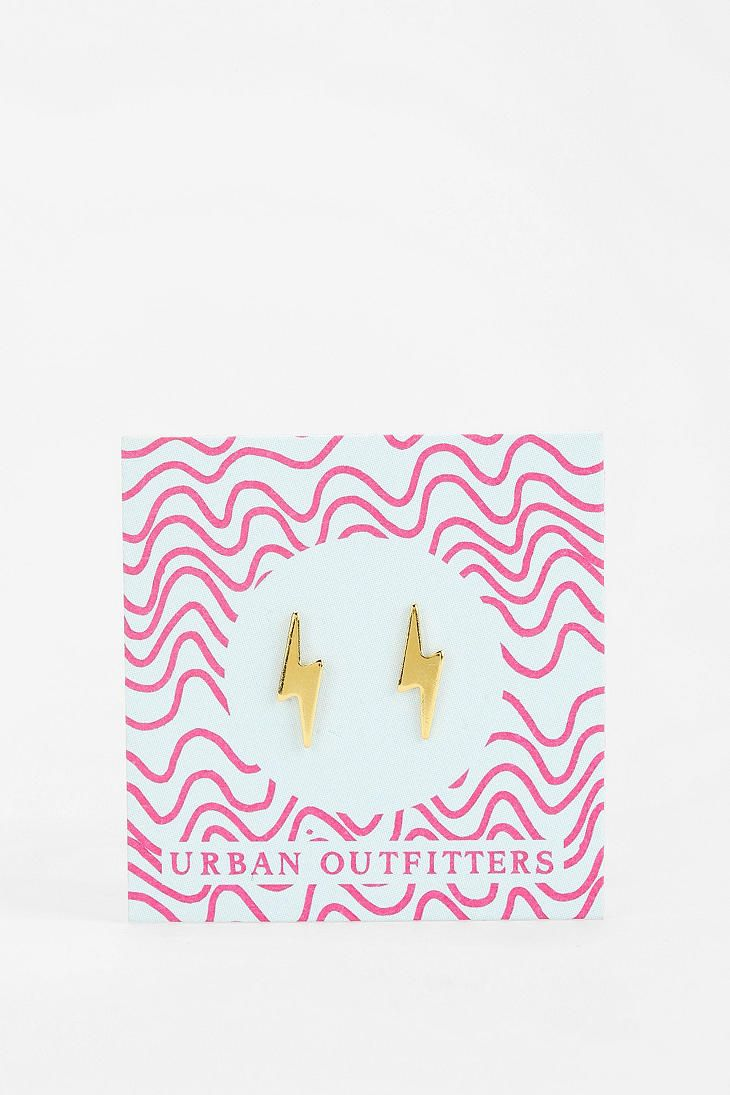 urban outfitters gift card urban outfitters stud gift card earring gold lightning 6695