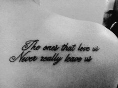 Hot quote tattoo for girls