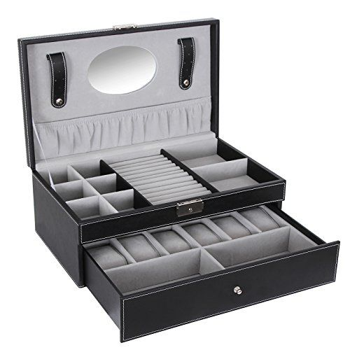 Songmics Black Leather Jewelry Box Watch Organizer Storage Case with Lock & Mirror UJWB11B Songmics-Watch box http://www.amazon.com/dp/B014R1MPE6/ref=cm_sw_r_pi_dp_P4uiwb0867RFE